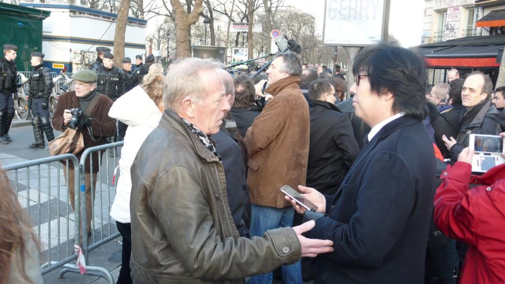Bertrand Rio avec Jean Vincent Placé, lors du rassemblement citoyen du 11 janvier 2014
