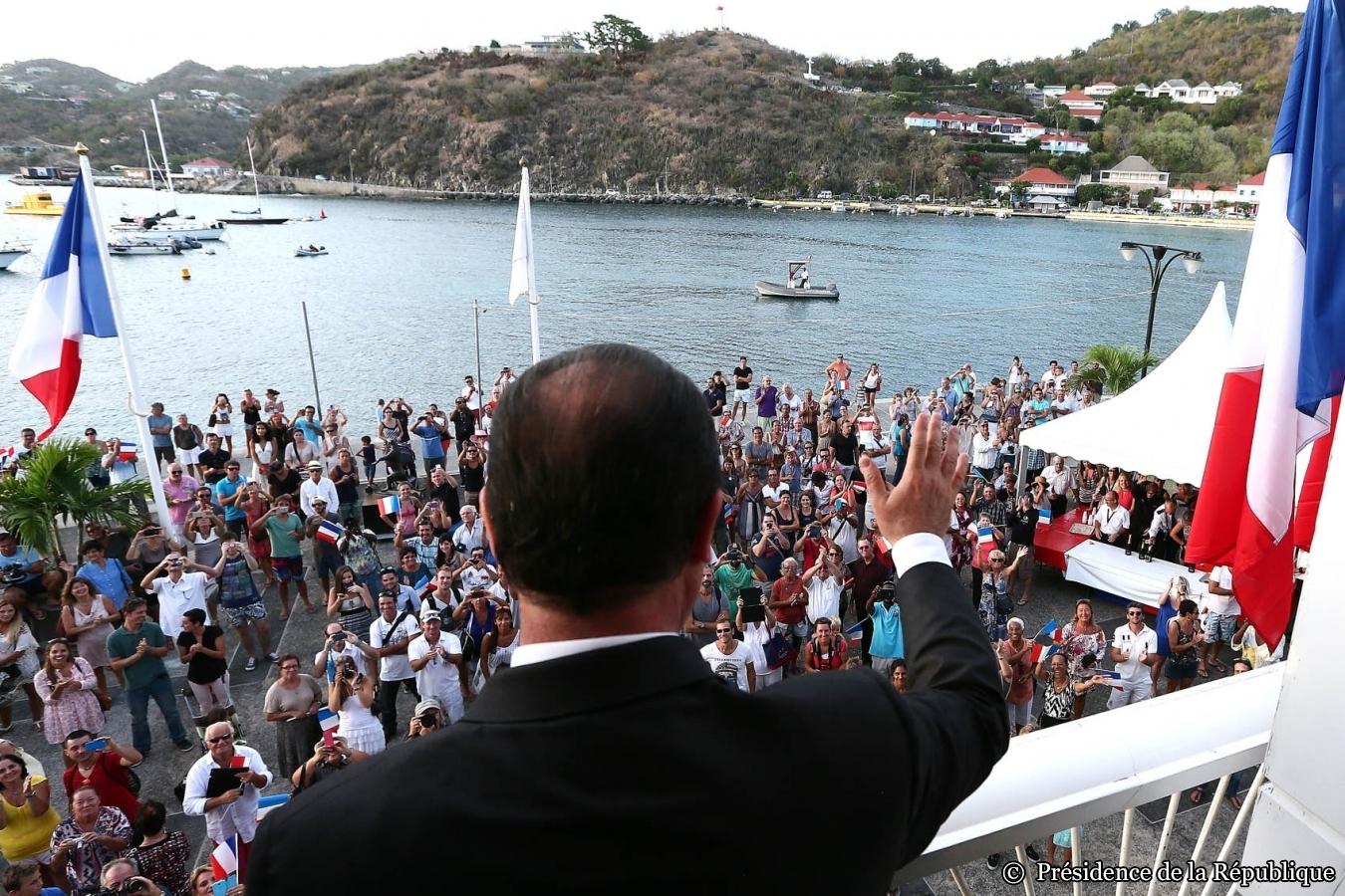 François Hollande en visite à Saint-Barthélemy